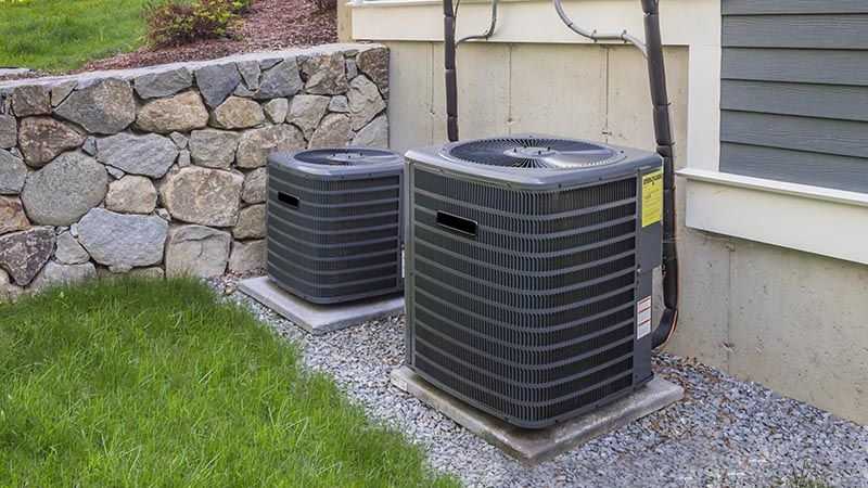 HVAC system seen while preforming home inspection services