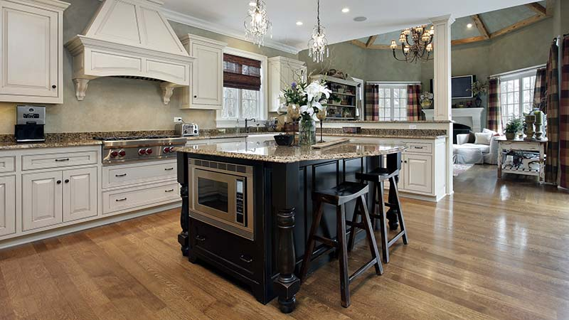 Kitchen interior seen while preforming home inspection services
