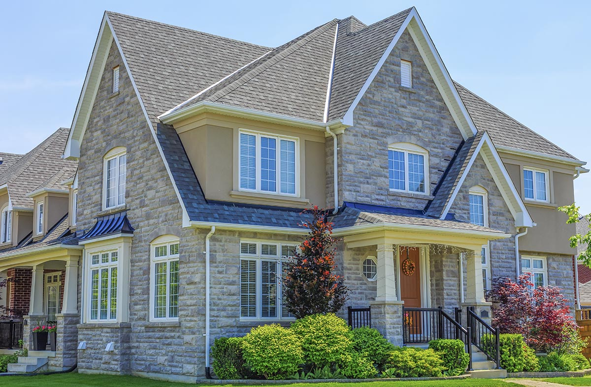 Custom built, luxury house in Calgary seen while preforming home inspection services